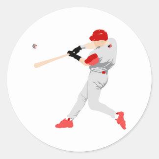 American Baseball Player Classic Round Sticker