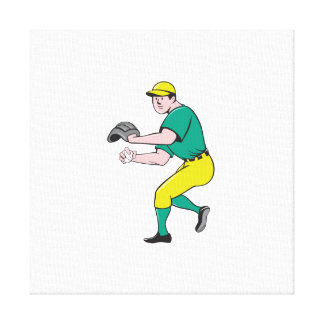 American Baseball Player OutFielder Throwing Ball Canvas Print