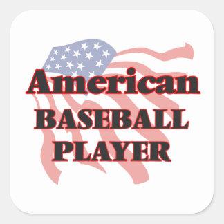 American Baseball Player Square Sticker