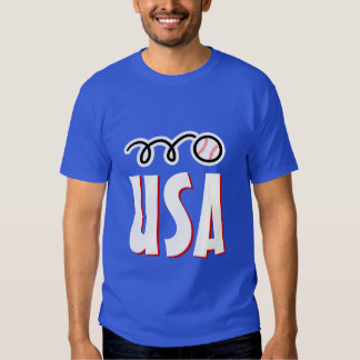 American baseball t shirt for USA players and fans