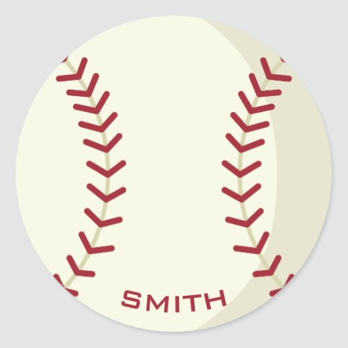 American Baseball Your Official Classic Round Sticker