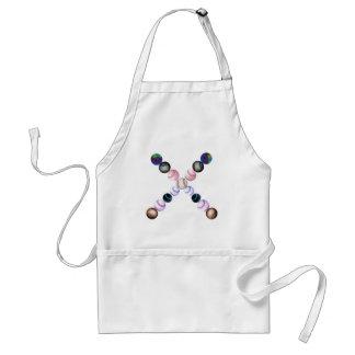 American Baseballs In Different Colors Adult Apron