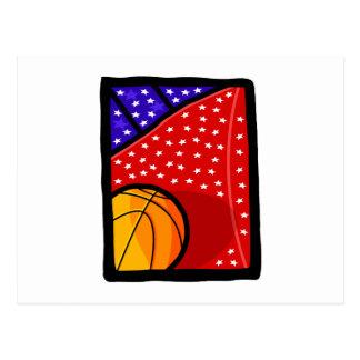American Basketball Team Postcard