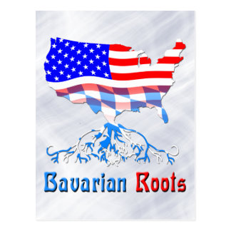 American Bavarian Roots Card Postcard