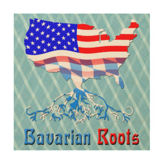 American Bavarian Roots Wood Print