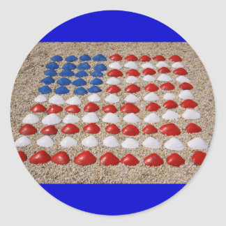 American Beach SeaShells Classic Round Sticker