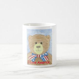 American Bear, I Love America Magic Mug