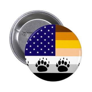 American Bear Pride Flag 2 Button