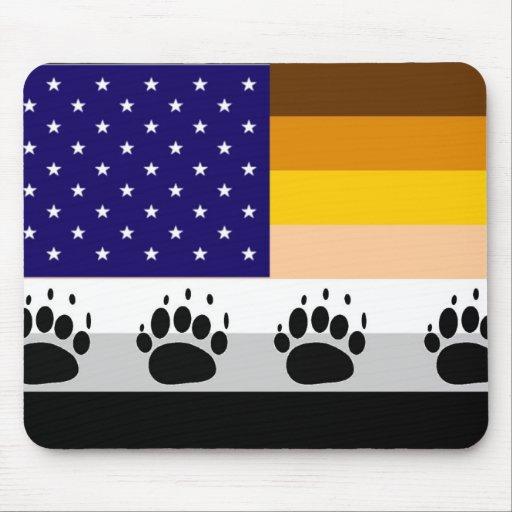 American Bear Pride Flag 2 Mouse Pad