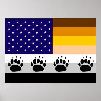 American Bear Pride Flag 2 Poster