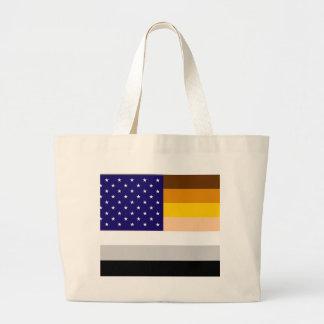 American Bear Pride Flag Large Tote Bag