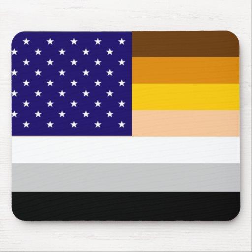 American Bear Pride Flag Mouse Pad