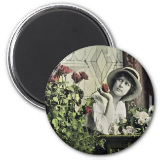 American Beauties 1914 Antique Roses 2 Inch Round Magnet