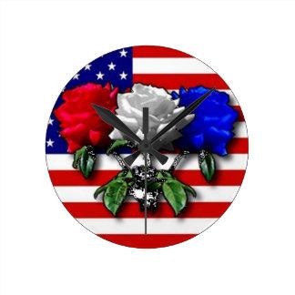 American Beauties Round Wall Clocks