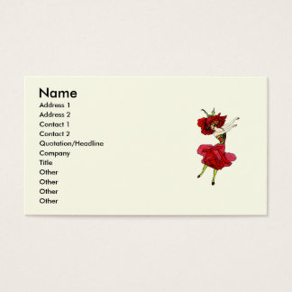 American Beauty Rose Business Card