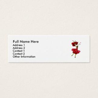 American Beauty Rose Mini Business Card