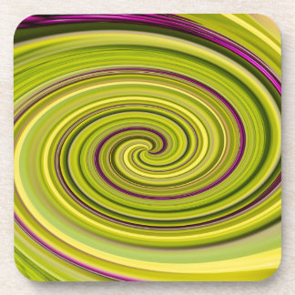 American Beautyberry Abstract Drink Coaster