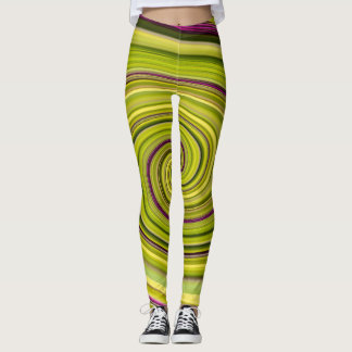 American Beautyberry Abstract Leggings