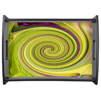 American Beautyberry Abstract Serving Tray