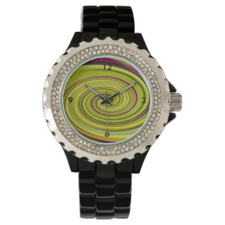American Beautyberry Abstract Wristwatch
