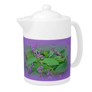 American Beautyberry (Callicarpa americana) Teapot