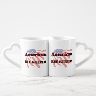 American Bee Keeper Couples' Coffee Mug Set