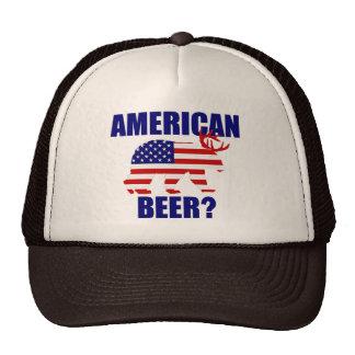 American Beer US Flag Bear Deer Hat