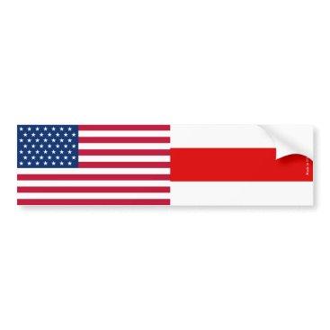 American & Belarusian Flag Bumper Sticker