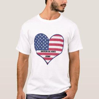 American Big Heart flag T shirt