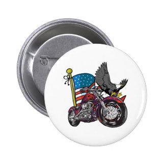 American Biker Eagle Button