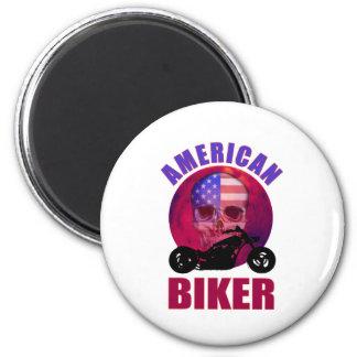 American Biker Skull Chop Magnet