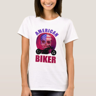 American Biker Skull Chop T-Shirt