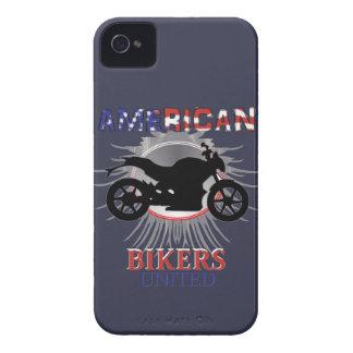American Bikers United Motorbike Graphic iPhone 4 Case
