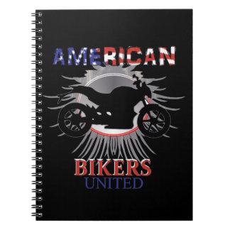 American Bikers United Motorbike Graphic Notebook
