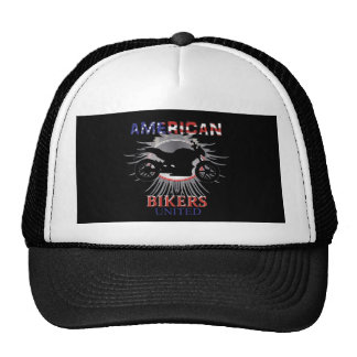 American Bikers United Motorbike Graphic Trucker Hat