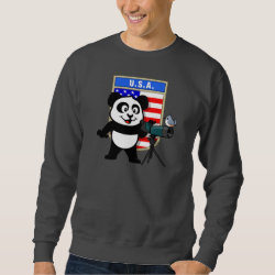 Men's Basic Sweatshirt with American Birding Panda design