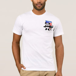Men's Basic American Apparel T-Shirt with American Birding Panda design