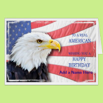 American birthday card just add a name.