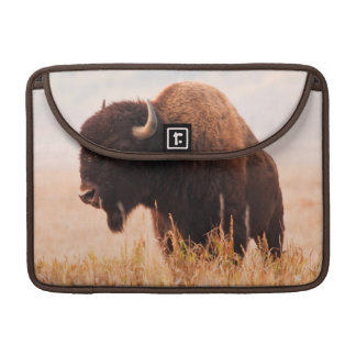 American Bison (Bison Bison) Herd In Teton 2 Sleeve For MacBooks
