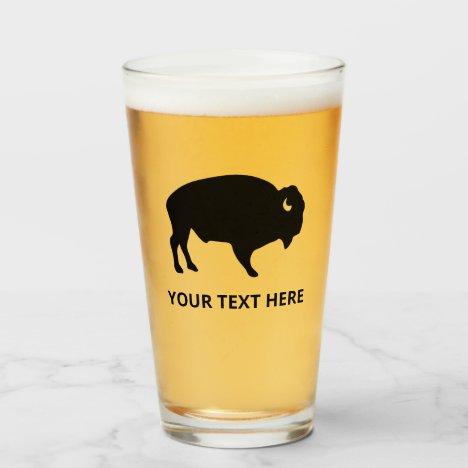 American Bison Buffalo Beer Glass Tumblr
