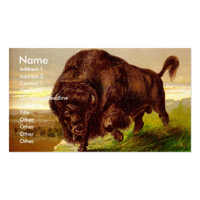 American Bison Business Card