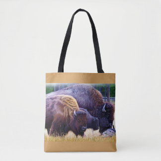 American Bison Family Tote Bag