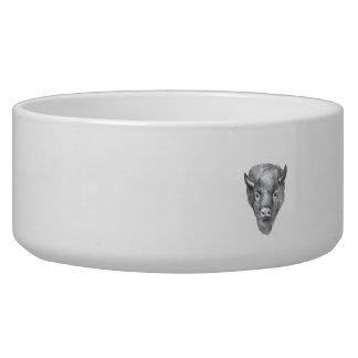 American Bison Head Watercolor Bowl