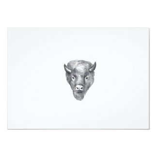 American Bison Head Watercolor Card