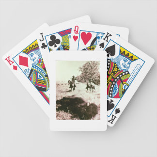 American Bison Hunters (b/w photo) Bicycle Playing Cards
