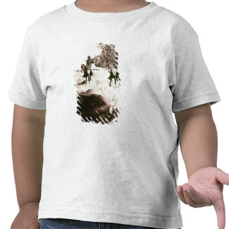 American Bison Hunters (b/w photo) Shirts