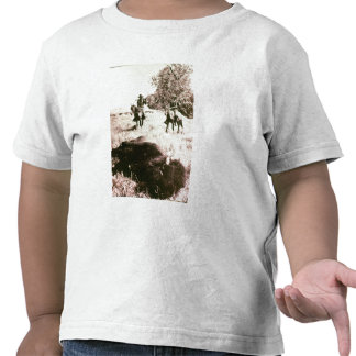 American Bison Hunters (b/w photo) T-shirts