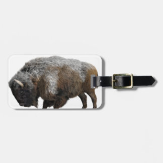 American Bison in Winter Bag Tag