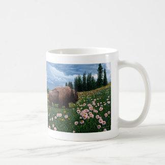 "American Bison - ""No Time For Flowers"" Coffee Mug"