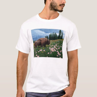 """American Bison - """"No Time For Flowers"""" T-Shirt"""